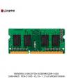 MEMORIA KINGSTON SODIMM DDR4 4GB 2666 MHZ / PC4-21300 - CL19 - 1.2 V (KVR26S19S6/4)