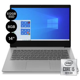 """LAPTOP LENOVO IDEAPAD 3 CI5-1035G1, 8GB, 512GB SSD, 14"""" FHD, W10H, PLATINIUM GREY - 81WD00U9US"""