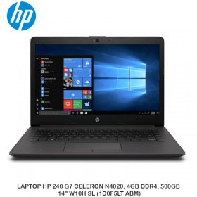 "LAPTOP HP 240 G7 CELERON N4020, 4GB DDR4, 500GB, 14"" W10H SL (1D0F5LT ABM)"