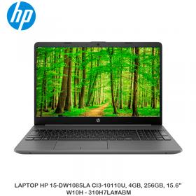 """LAPTOP HP 15-DW1085LA CI3-10110U, 4GB, 256GB, 15.6"""" W10H - 310H7LA ABM"""
