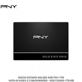 DISCO ESTADO SOLIDO SSD PNY 1TB SATA-III 6GB/S 2.5 BACKWARDS - SSD7CS900-1TB-RB