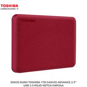 "DISCO DURO TOSHIBA 1TB CANVIO ADVANCE 2.5"", USB 3.0 ROJO HDTCA10XR3AA"
