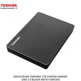 DISCO DURO TOSHIBA 1TB CANVIO GAMING, USB 3.0 BLACK HDTX110XK3AA