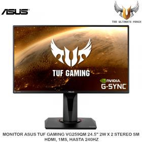 """MONITOR ASUS TUF GAMING VG259QM 24.5"""" 2W X 2 STEREO SM, HDMI, 1MS, HASTA 240HZ"""