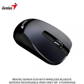 MOUSE GENIUS ECO-8015 WIRELESS BLUEEYE BATERIA RECARGABLE IRON GREY NP: 31030005402