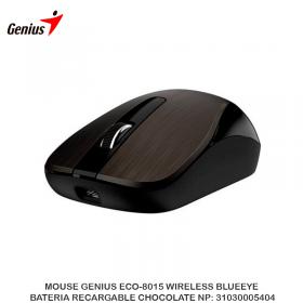 MOUSE GENIUS ECO-8015 WIRELESS BLUEEYE BATERIA RECARGABLE CHOCOLATE NP: 31030005404
