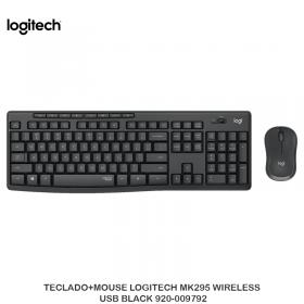 TECLADO+MOUSE LOGITECH MK295 WILRELESS USB BLACK 920-009792
