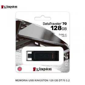 MEMORIA USB KINGSTON 128 GB DT70 3.2