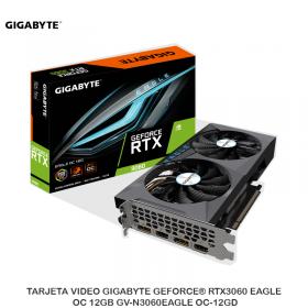 TARJETA VIDEO GIGABYTE GEFORCE® RTX3060 EAGLE OC 12GB GV-N3060EAGLE OC-12GD