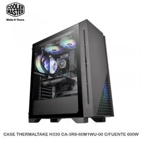 CASE THERMALTAKE H330 CA-3R8-60M1WU-00 C/FUENTE 600W