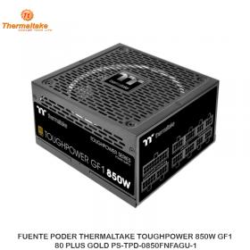 FUENTE PODER THERMALTAKE TOUGHPOWER 850W GF1, 80 PLUS GOLD PS-TPD-0850FNFAGU-1
