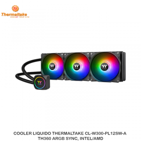 COOLER LIQUIDO THERMALTAKE CL-W300-PL12SW-A ,TH360 ARGB SYNC, INTEL/AMD