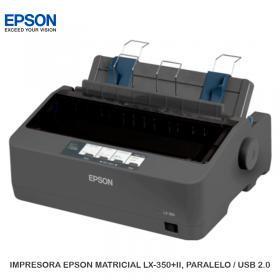IMPRESORA EPSON MATRICIAL LX-350+II, PARALELO / USB 2.0