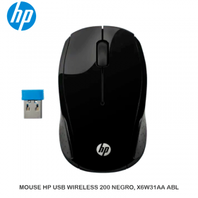 MOUSE HP USB WIRELESS 200 NEGRO, X6W31AA ABL