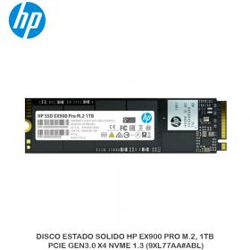DISCO ESTADO SOLIDO HP EX900 PRO M.2, 1TB, PCIE GEN3.0 X4 NVME 1.3 (9XL77AA ABL)
