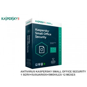 ANTIVIRUS KASPERSKY SMALL OFFICE SECURITY 1 SERV+5USUARIOS+5MOVILES 12 MESES
