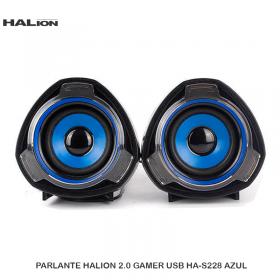 PARLANTE HALION 2.0 GAMER USB HA-S228 AZUL