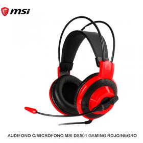 AUDIFONO C/MICROFONO MSI DS501 GAMING ROJO/NEGRO