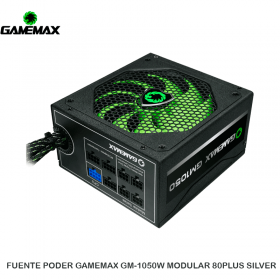 FUENTE PODER GAMEMAX GM-1050W MODULAR 80PLUS SILVER