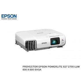 PROYECTOR EPSON POWERLITE S27 2700 LUM 800 X 600 SVGA