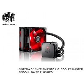 SISTEMA DE ENFRIAMIENTO LIQ. COOLER MASTER SEIDON 120V V3 PLUS RED