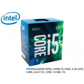 PROCESADOR INTEL CORE I5-7500, 3.40 GHZ, 6 MB, LGA1151, 65W, 14 NM, 7G