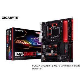 PLACA GIGABYTE H270-GAMING 3 S/V/R LGA1151