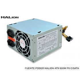 FUENTE PODER HALION ATX 600W P8 C/SATA