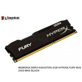 MEMORIA DDR4 KINGSTON 4GB HYPERX FURY BUS 2400 MHZ BLACK