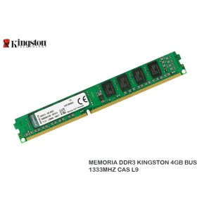 MEMORIA DDR3 KINGSTON 4GB BUS 1333MHZ CAS L9