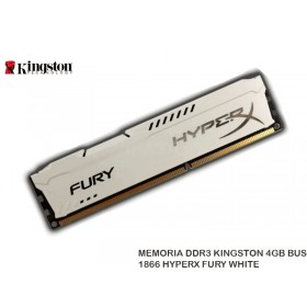 MEMORIA DDR3 KINGSTON 4GB BUS 1866 HYPERX FURY WHITE