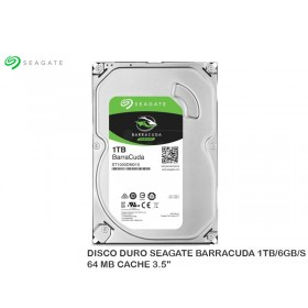 DISCO DURO SEAGATE BARRACUDA 1TB/6GB/S 64 MB CACHE 3.5""