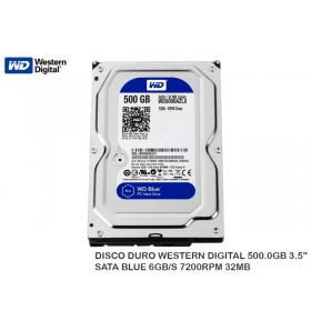 "DISCO DURO WESTERN DIGITAL 500.0GB 3.5"" SATA BLUE 6GB/S 7200RPM 32MB"