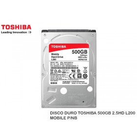 DISCO DURO TOSHIBA 500GB 2.5HD L200 MOBILE P/NB
