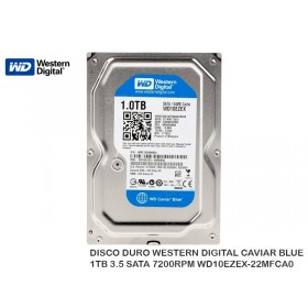 DISCO DURO WESTERN DIGITAL CAVIAR BLUE 1TB 3.5 SATA 7200RPM WD10EZEX-22MFCA0