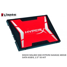 "DISCO SOLIDO SSD HYPERX SAVAGE 480GB SATA 6GB/S, 2.5"" S3 KIT"