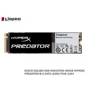 DISCO SOLIDO SSD KINGSTON 480GB HYPERX PREDATOR M.2 SATA (2280) PCIE G2X4
