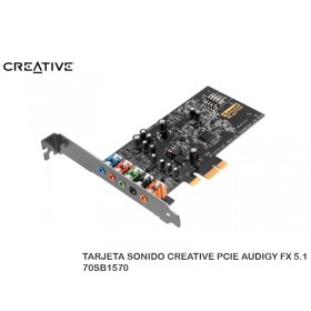 TARJETA SONIDO CREATIVE PCIE AUDIGY FX 5.1 70SB1570