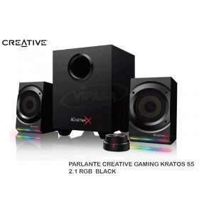 PARLANTE CREATIVE GAMING KRATOS S5 2.1 RGB  BLACK