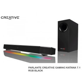 PARLANTE CREATIVE GAMING KATANA 7.1 RGB BLACK
