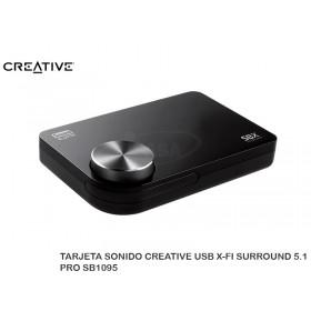 TARJETA SONIDO CREATIVE USB X-FI SURROUND 5.1 PRO SB1095