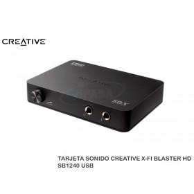 TARJETA SONIDO CREATIVE X-FI BLASTER HD SB1240 USB