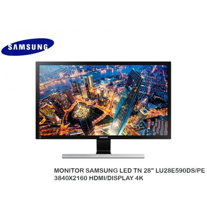 "MONITOR SAMSUNG LED TN 28"" LU28E590DS/PE 3840X2160 HDMI/DISPLAY 4K"