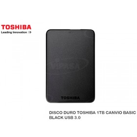 DISCO DURO TOSHIBA 1TB CANVIO BASIC BLACK USB 3.0