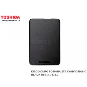 DISCO DURO TOSHIBA 2TB CANVIO BASIC BLACK USB 3.0 & 2.0