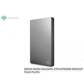 DISCO DURO SEAGATE 2TB EXTERNO BACKUP PLUS PLATA