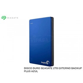 DISCO DURO SEAGATE 2TB EXTERNO BACKUP PLUS AZUL