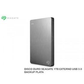 DISCO DURO SEAGATE 1TB EXTERNO USB 3.0 BACKUP PLATA
