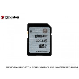 MEMORIA KINGSTON SDHC 32GB CLASS 10 45MB/SEG UHS-I
