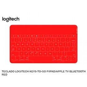 TECLADO LOGITECH KEYS-TO-GO P/IPAD/APPLE TV BLUETOOTH RED